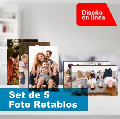 set de 5 foto retablos